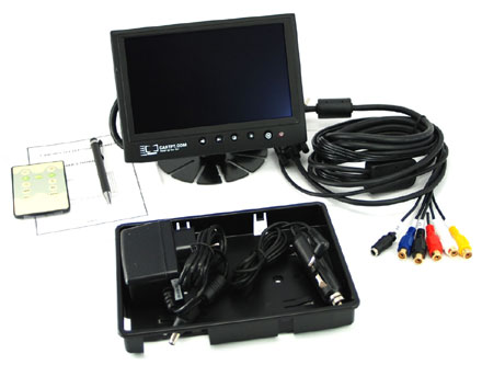 "CTF400<b>-L</b> - VGA 7"" TFT - Touchscreen USB - PAL/NTSC - IR Remote - Autodimmer - Audio <b>[LED-Backlight]</b>"