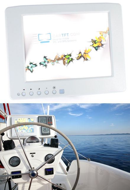 "CTF846-<b>SLWP</b> - VGA 8.4"" TFT - Touchscreen USB - Video (<b>600 nits</b>) <b>-TRANSFLECTIVE PRO- [WATERPROOF, IP67]</b> *new*"
